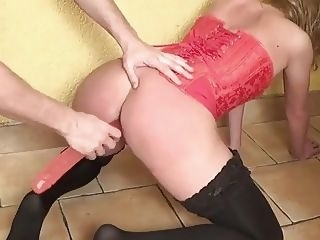 Spanking Punishment, Rough Dildo Pussy Fucking and Huge Doggystyle Squirt. dildo