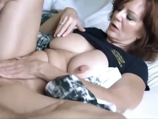 Lucky son with big cock fucked hard his mature mother on vacation amateur