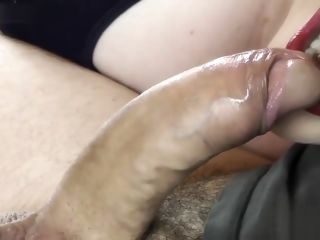 Cum in the mouth blowjob