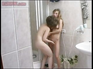 Playtime after shower with mom lesbian