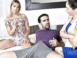 FamilyStrokes - Tiny Stepsis Lets Her Big Bro Pound Her cumshot