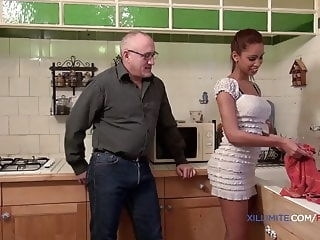 Young blacked girl fucked by an old man blowjob