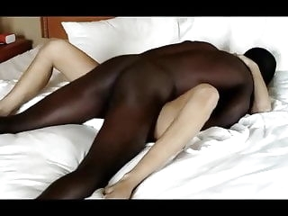 Hot Blonde Gets Blacked blonde