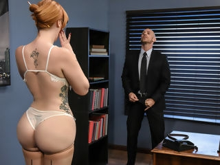 Lauren Phillips & Johnny Sins in The New Girl: Part 1 - Brazzers red head